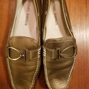 Michael Shannon Metallic Loafers